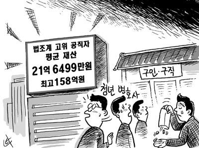 법조계 고위공직자 231명 평균재산 21억6400만원
