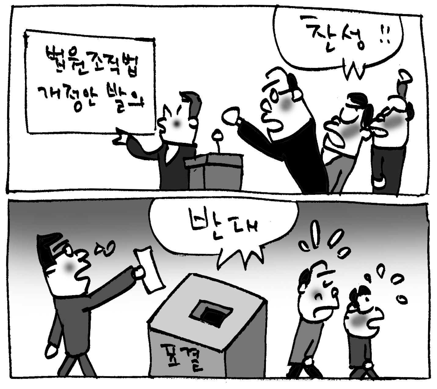 """(단독) 법원조직법 개정안 4표 모자라 부결… """"왜?"""""""